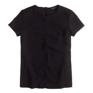 J.Crew matte crepe black t-shirt